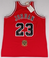 """Michael Jordan Signed Limited Edition Authentic Mitchell & Ness """"Hall of Fame"""" Bulls Jersey Inscribed """"2009 HOF"""" #39/123 (UDA COA) at PristineAuction.com"""