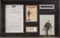 """Johnny Cash Signed Original Concert Agreement Custom Framed 18"""" x 27"""" Piece (PSA COA) at PristineAuction.com"""