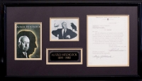 "Alfred Hitchcock Rare Signed Original Movie Document for ""The Rope"" Custom Framed  29"" x 16"" Piece (PSA LOA) at PristineAuction.com"