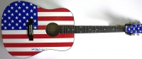 """Peter Max Signed USA Acoustic Guitar Inscribed """"Love"""" & """"2012"""" (JSA LOA) at PristineAuction.com"""