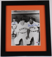 Monte Irvin Signed Giants 13x15 Custom Framed Photo with (1) Other Signature (PSA COA) at PristineAuction.com