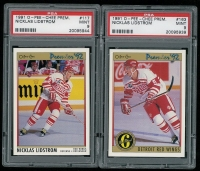 Lot of (2) Nicklas Lidstrom 1991-92 OPC Premier Hockey Cards with #163 ORIG6 & #117 RC at PristineAuction.com