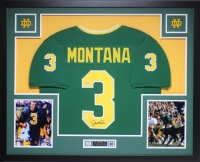 "Joe Montana Signed Notre Dame 35"" x 43"" Custom Framed Jersey (PSA COA) at PristineAuction.com"