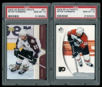 Lot of (2) Peter Forsberg Hockey Cards with 2005-06 SP Authentic #73 & 2003-04 Bowman #21 at PristineAuction.com