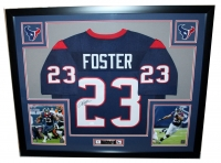 """Arian Foster Signed Texans 35"""" x 43"""" Custom Framed Jersey (JSA COA) at PristineAuction.com"""