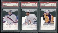 Lot of (3) 2003-04 SP Authentic Hockey Cards with #56 Michael Peca, #60 Mike Dunham & #70 Martin Straka at PristineAuction.com
