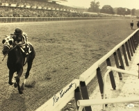 "Ron Turcotte Signed 16x20 Photo ""Looking Back"" on Secretariat at Belmont Stakes (JSA COA) at PristineAuction.com"