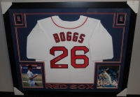 Wade Boggs Signed Red Sox 35x43 Custom Framed Jersey (PSA COA) at PristineAuction.com