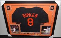 "Cal Ripken Jr. Signed Orioles 35x43 Custom Framed Jersey Inscribed ""HOF 2007"" (JSA COA) at PristineAuction.com"