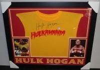 """Hulk Hogan Signed 27x33 Custom Framed """"Hulkamania"""" Shirt (TriStar) at PristineAuction.com"""
