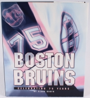 "Bobby Orr Signed ""Boston Bruins: Celebrating 75 Years"" Hardcover Book (JSA COA) at PristineAuction.com"