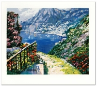 "Howard Behrens ""The Road to Positano"" Signed Limited Edition 23"" x 20.5"" Serigraph #152/350 at PristineAuction.com"
