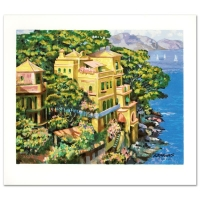 "Howard Behrens ""Villa Portofino"" Signed Limited Edition 23"" x 20.5"" Serigraph on Paper #229/350 at PristineAuction.com"