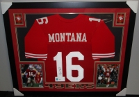 Joe Montana Signed 49ers 35x43 Custom Framed Jersey (JSA COA & GTSM) at PristineAuction.com