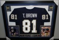 Tim Brown Signed Notre Dame 35x43 Custom Framed Jersey (GTSM) at PristineAuction.com