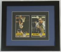 John Wooden & Bill Walton Signed UCLA 13x15 Custom Framed Display (COA) at PristineAuction.com