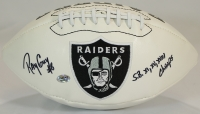 "Ray Guy Signed Raiders Logo Football Inscribed ""S.B. XI, XV, XVIII Champs"" (Radtke COA) at PristineAuction.com"