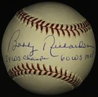 "Bobby Richardson Signed OML Baseball Inscribed ""3x WS Champs"" & ""60 WS MVP"" (PSA COA) at PristineAuction.com"