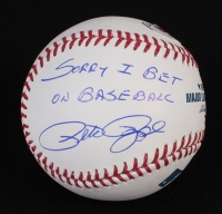 "Pete Rose Signed OML Baseball Inscribed ""Sorry I Bet On Baseball"" (PSA COA) at PristineAuction.com"