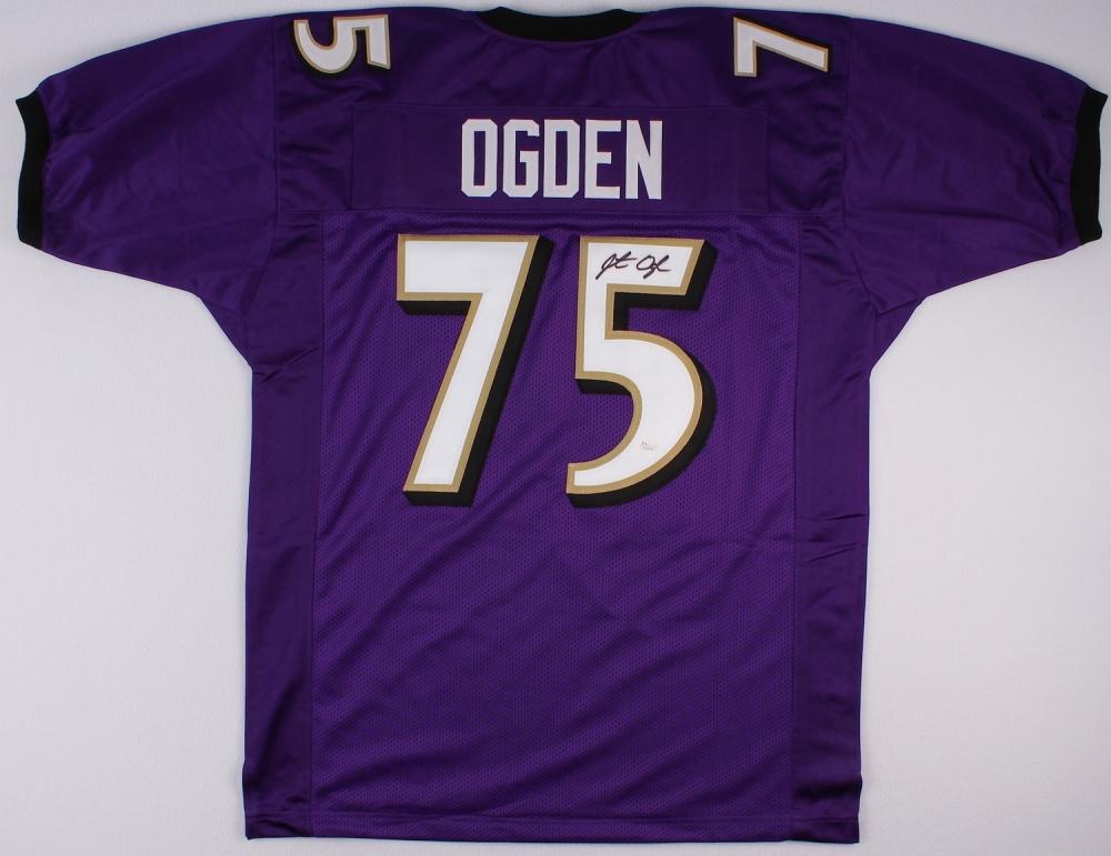 Jonathan Ogden Signed Ravens Jersey Jsa Coa At
