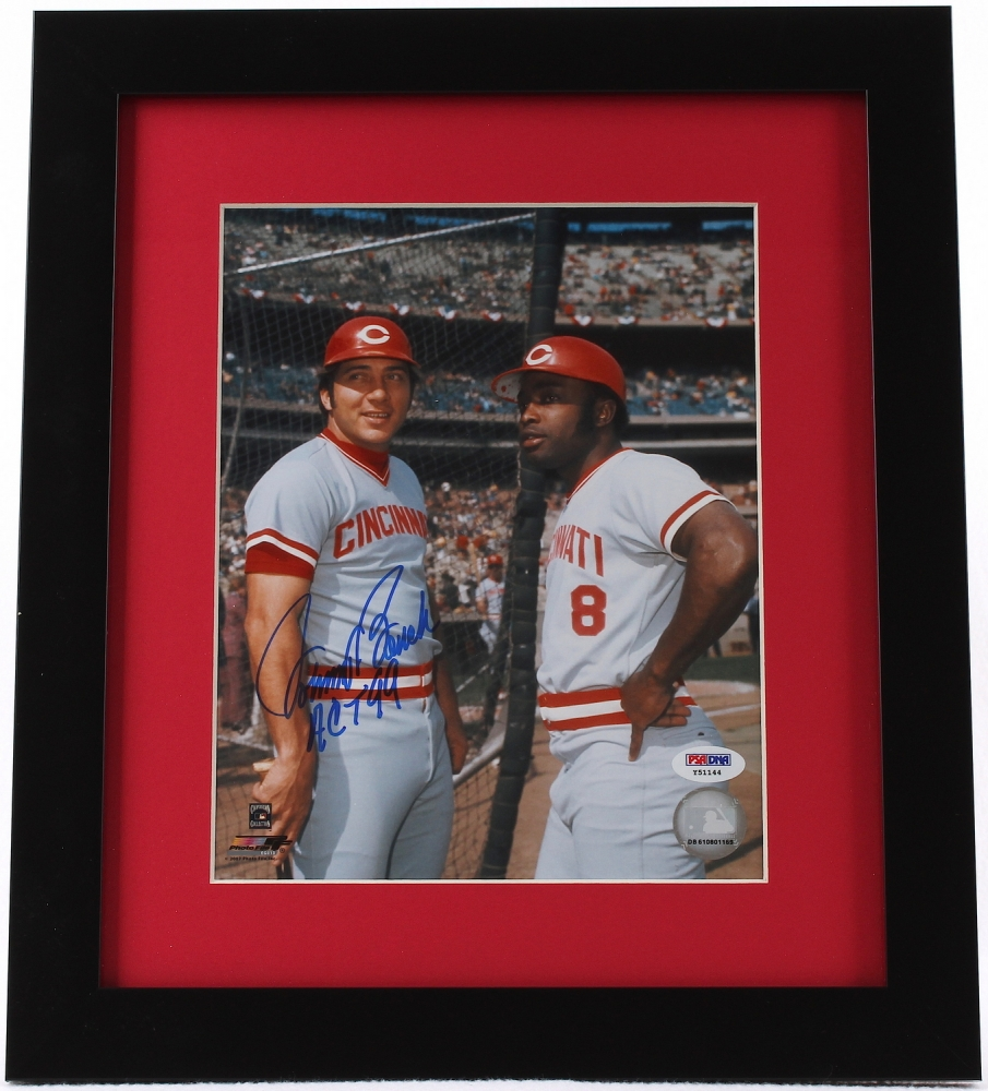 Johnny Bench Signed 13x15 Custom Framed Photo Inscribed Act 99 Psa Coa At Pristine Auction