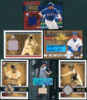 Lot of (6) Autograph & Game-Used Insert Cards with Tom Seaver, Brandon Webb, Steve Garvey, Wade Boggs, Billy Williams and Alex Rodriguez at PristineAuction.com