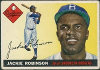 1955 Topps #50 Jackie Robinson at PristineAuction.com