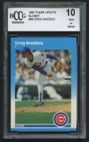 Greg Maddux 1987 Fleer Update Glossy #68 RC (BCCG 10) at PristineAuction.com