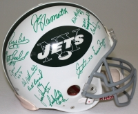 1969 Super Bowl Champions New York Jets Full Size Authentic Pro Line Helmet Signed by (25) with Joe Namath, Don Maynard, Emerson Boozer (Steiner COA) at PristineAuction.com