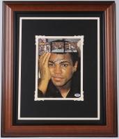 "Muhammad Ali Signed 20"" x 24"" Custom Framed Photo Display (PSA LOA) at PristineAuction.com"