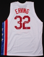 """Julius Erving Signed Nets Throwback Jersey Inscribed """"2x ABA Champ"""" (JSA COA) at PristineAuction.com"""