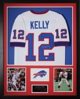 "Jim Kelly Signed Bills 35"" x 43"" Custom Framed Jersey (JSA COA) at PristineAuction.com"