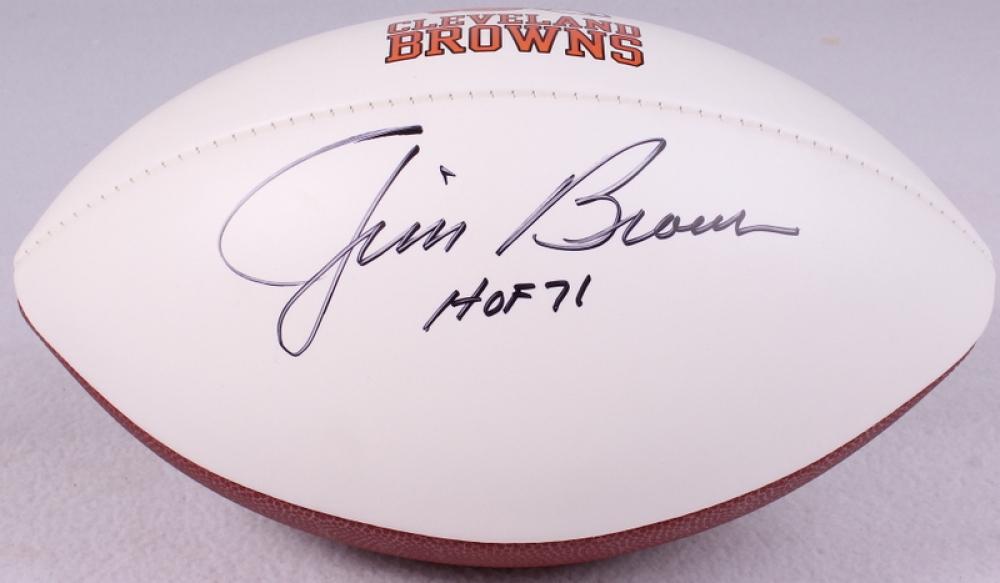 Jim Brown Browns Jim Brown Signed Browns Logo
