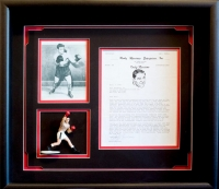 Rocky Marciano Typed Letter Signed on Personal Letterhead Custom Framed Display (PSA LOA) at PristineAuction.com