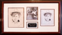 Will Rogers Rare Signed Artwork Custom Framed Display (PA LOA) at PristineAuction.com
