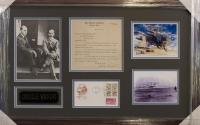 Orville Wright Signed Letter & Postcard Custom Framed Display (PSA LOA) at PristineAuction.com