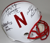 Nebraska Heisman Trophy Winners Full-Size Helmet Signed by (3) with Johnny Rodgers, Mike Rozier & Eric Crouch (Radtke COA) at PristineAuction.com
