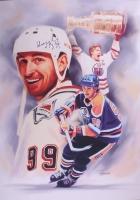 "Wayne Gretzky Signed Oilers 27"" x 39"" Photo on Canvas (JSA ALOA) at PristineAuction.com"