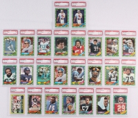 Lot of (25) PSA Graded 1986 Topps Football Cards with (2) #374 Steve Young RC (PSA 7), #11 Walter Payton (PSA 8), #112 John Elway (PSA 8), #151 Lawrence Taylor (PSA 8) at PristineAuction.com