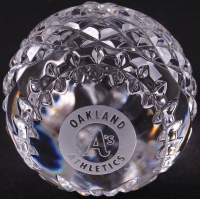 Oakland Athletics Waterford Crystal Baseball at PristineAuction.com