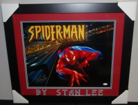 Stan Lee Signed Spider-Man 23x27 Custom Framed Photo Dispay (JSA COA) at PristineAuction.com