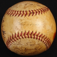 1950 Yankees World Series Champs Multi-Signed Baseball Signed by (20) with Joe DiMaggio, Yogi Berra, Johnny Mize, Ralph Houk, Billy Martin, Allie Reynolds (PSA LOA) at PristineAuction.com