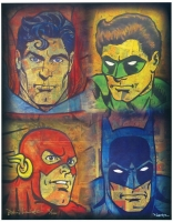 "David Lizanetz Signed ""Justice League"" Limited Edition 11"" x 14"" Comic Art Print #70/100 (PA COA) at PristineAuction.com"