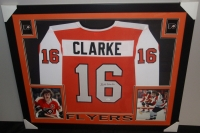 Bobby Clarke Signed Flyers 35x43 Custom Framed Jersey (JSA COA) at PristineAuction.com