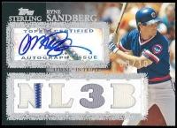Ryne Sandberg 2007 Topps Sterling Stardom Relics Autographs Triple #SSA101 at PristineAuction.com