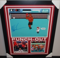 """Mike Tyson Signed """"Punch-Out!!"""" 27x33 Custom Framed Photo (Steiner COA) at PristineAuction.com"""