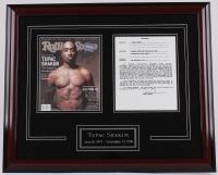 Tupac Shakur Signed 22x26 Custom Framed Display With Original Contract (JSA LOA & COA) at PristineAuction.com