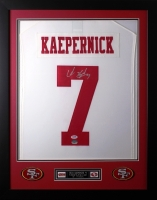 Colin Kaepernick Signed 49ers 24x30 Custom Framed Jersey (PSA COA) at PristineAuction.com