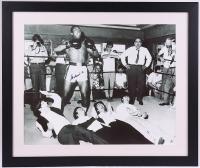 Muhammad Ali Signed 21x25 Custom Framed Photo Display with The Beatles (JSA LOA & SOP COA) at PristineAuction.com