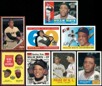 Lot of (8) Willie Mays Baseball Cards at PristineAuction.com
